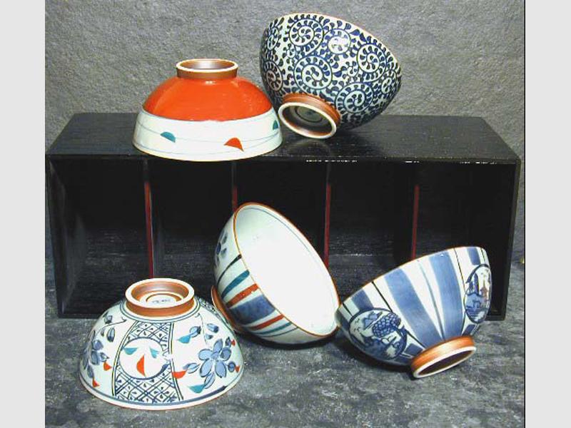 5 Reisschalen Set Kyokozome