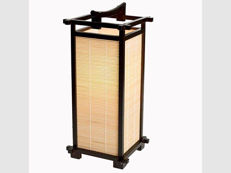 Andon Bambus 45 cm, schwarz-braun