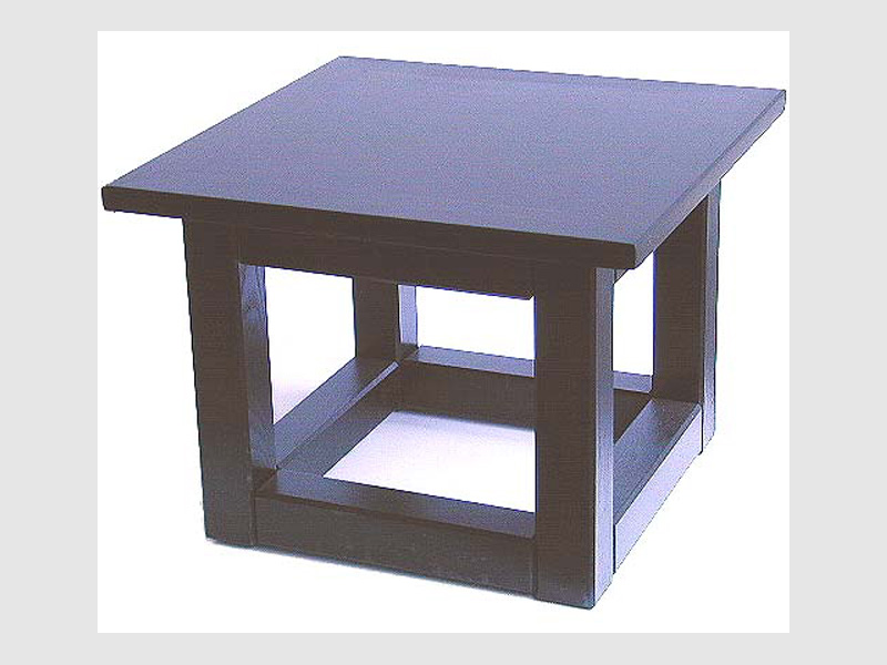 Tisch schwarz 50 cm x 50 cm x 30 cm
