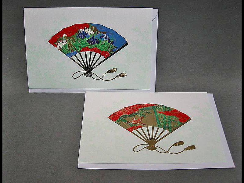 2 Briefkarten Fächer