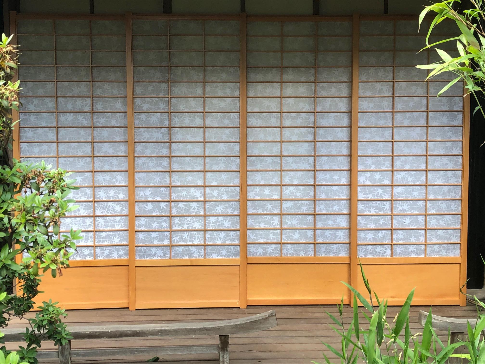 8 Stück Zederholz Shoji mit  Holzfeld  und beidseitiger Bespannung neuwertig