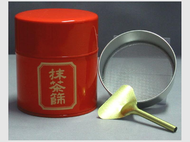 Teedose für Matcha rot