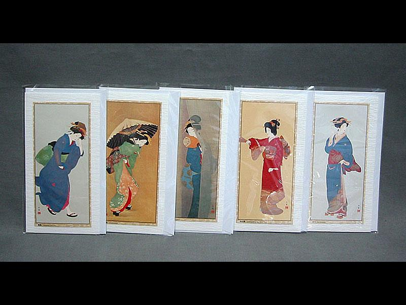 5 Briefkarten Bijin (1)