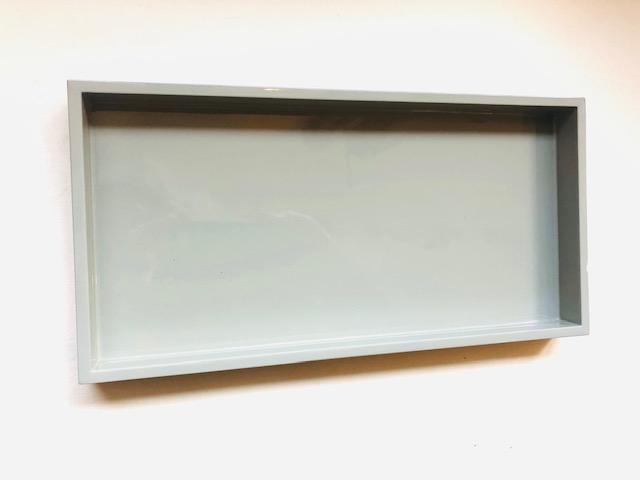 Lacktablett hellgrau  30 x 15cm