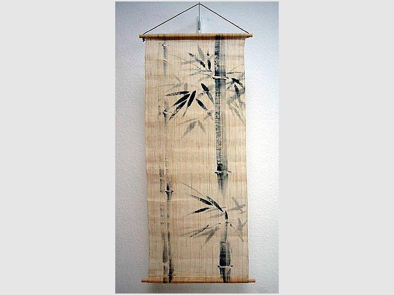 Wandbehang Bambus
