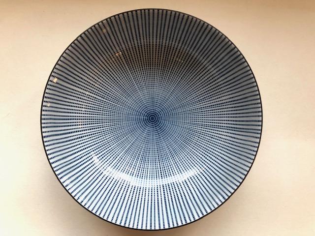 """""""Blaustrich"""" Schale 21,5 cm x 8 cm"""