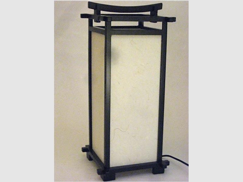 Stehleuchte Andon Washi 45 cm, schwarz-braun