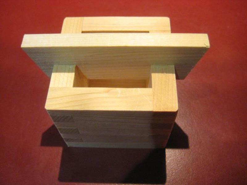 Holzbox für Zahnstocher