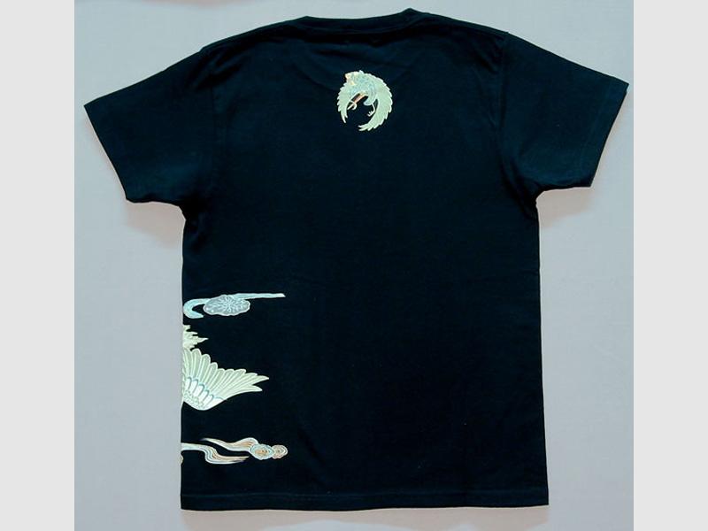 T-Shirt Tsuru-schwarz-S