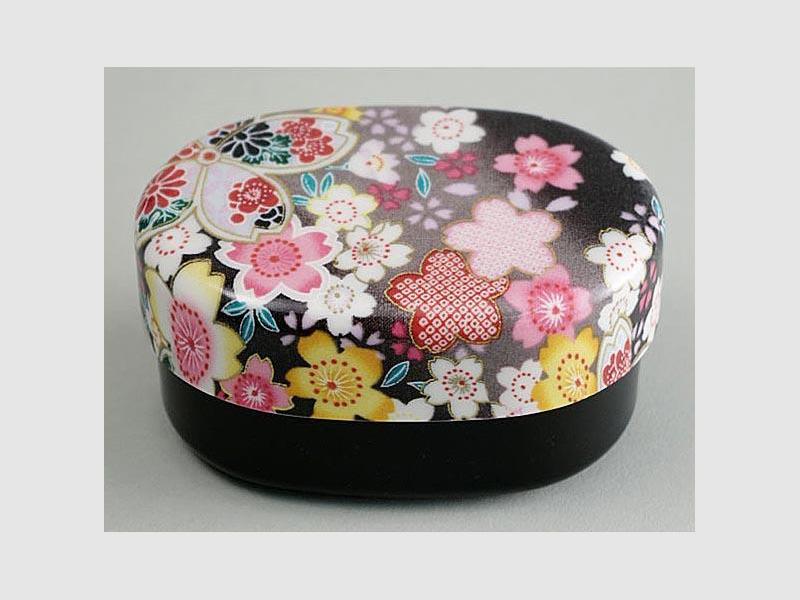 Lunchbox Nunobari Sakura schwarz