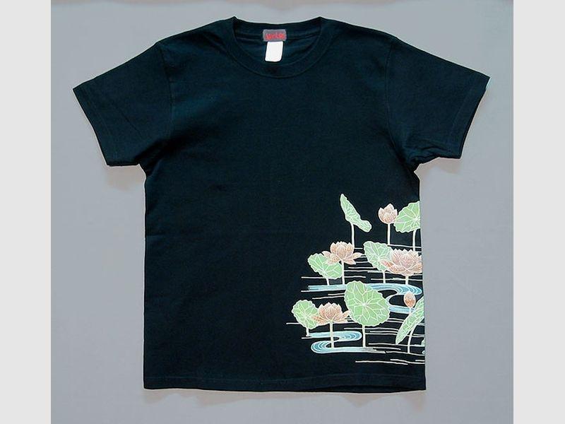 T-Shirt Hasu-schwarz-L