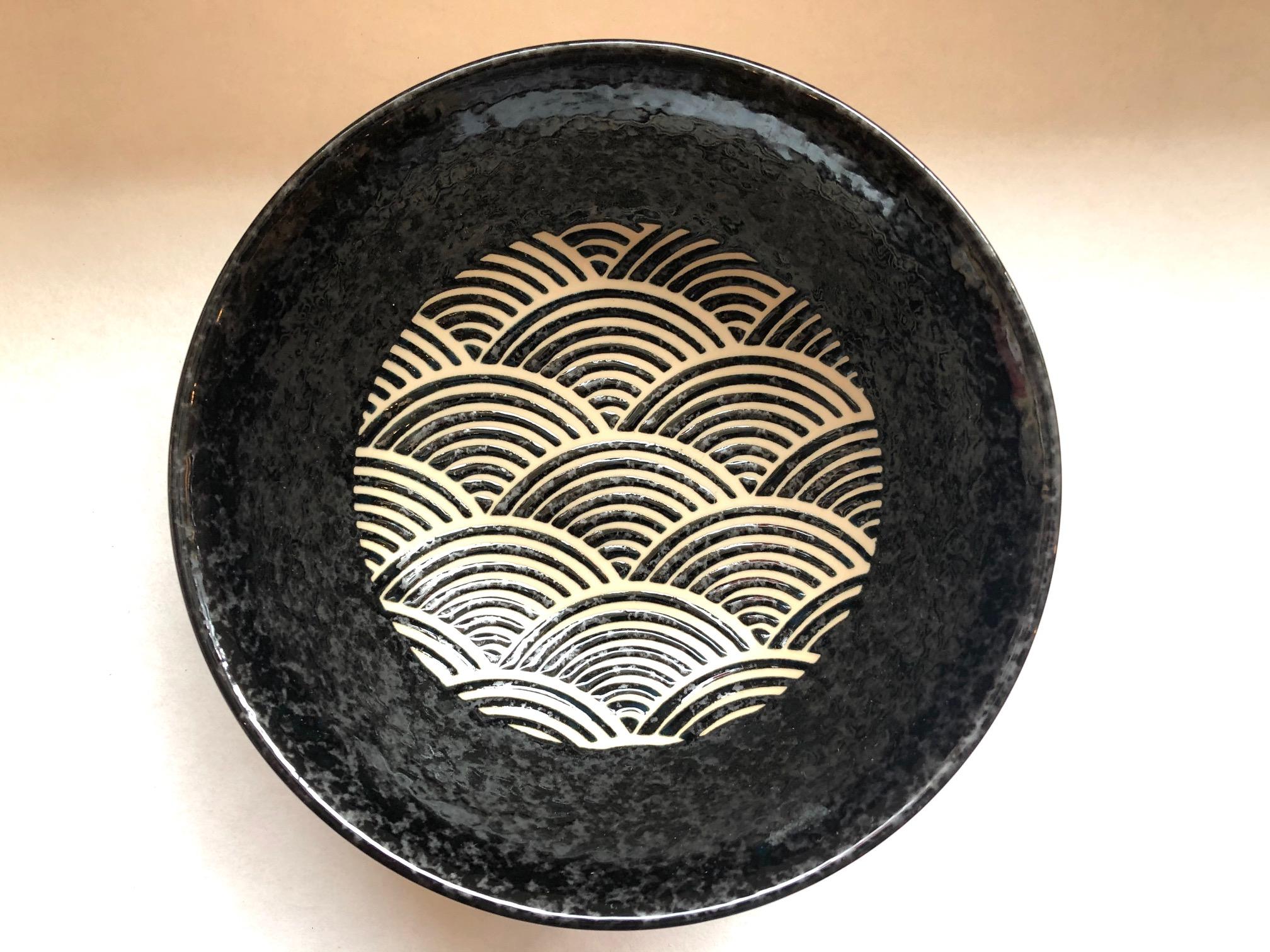 Ramen-schale Seikaiha Kuro