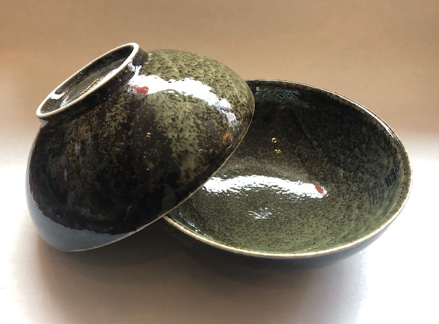 Ramen-schale Oribe grün