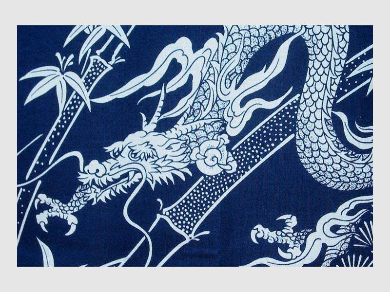Kimono Dragon blau