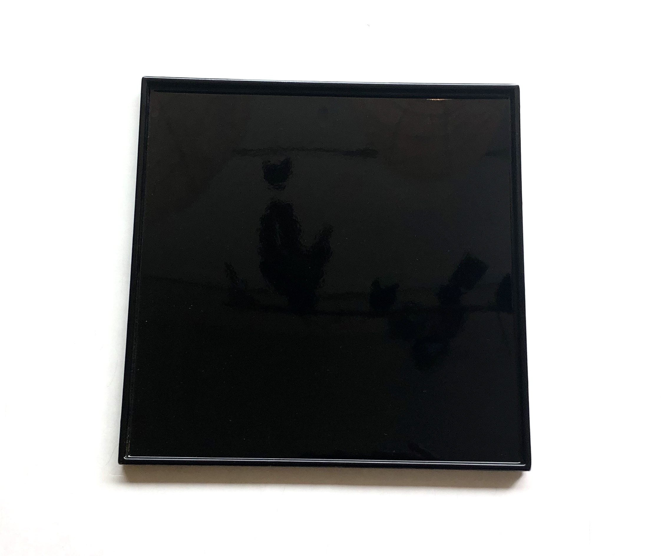 Tablett,Lack, schwarz 30 cm x 30 cm