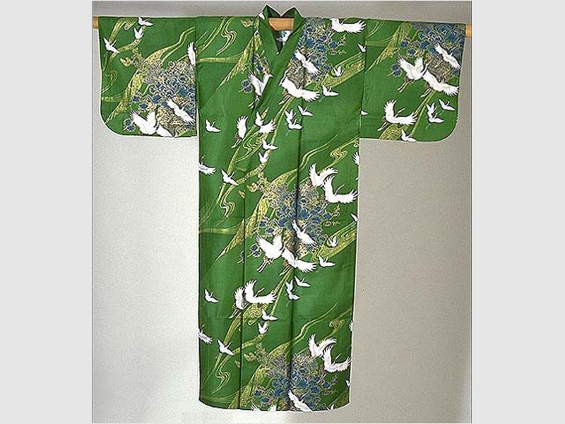 Kimono Tsuru grün