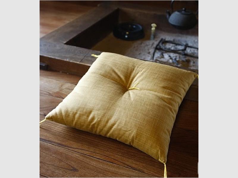 Zabuton-Kissen, gelb