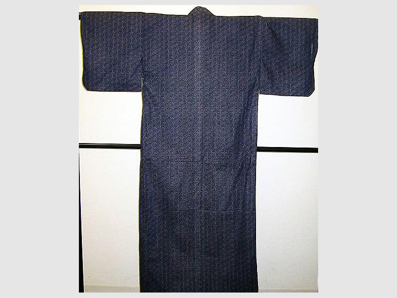 Yukata Asanoha-rot-L