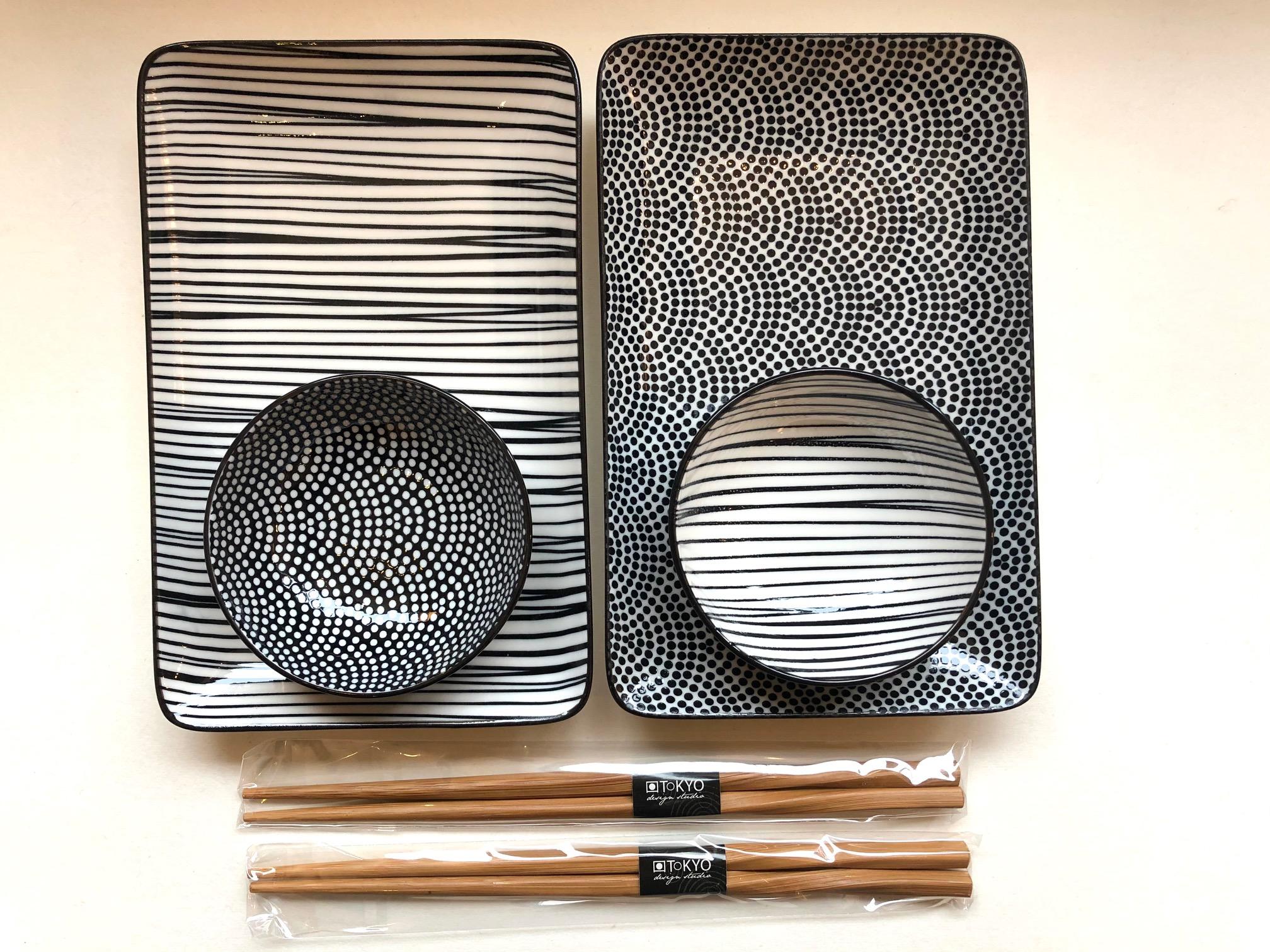Sushi-Set Nihon schwarzweiss