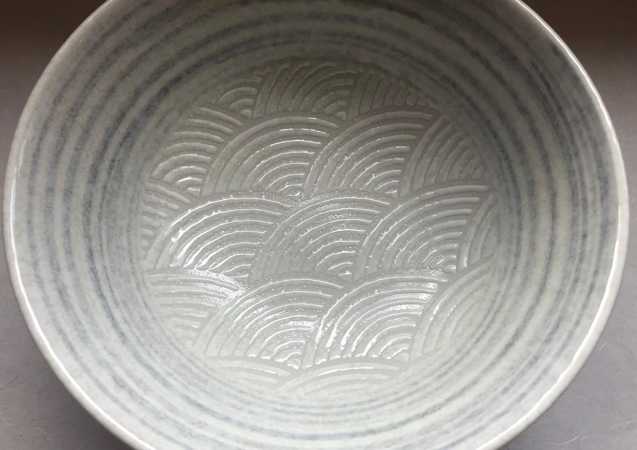 Ramen-schale Seikaiha white