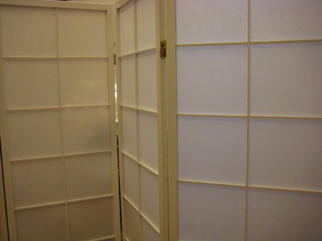 Paravent 4-tlg. weiß 130 cm Höhe